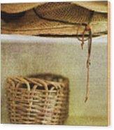 Garden Hats Wood Print