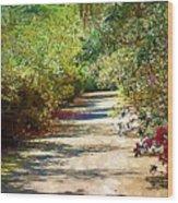 Garden Hideaway Wood Print