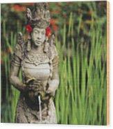 Garden In Bali Wood Print