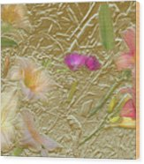 Garden in Gold Leaf2 Wood Print