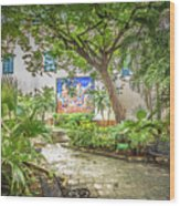 Garden In The Square Wood Print