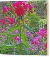 Garden In The Woods Wood Print