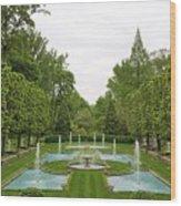 Italian Fountains Of The Garden Wood Print