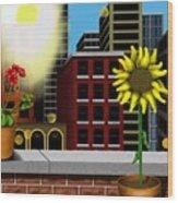 Garden Landscape II - Across The Urban Jungle Wood Print