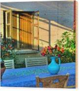 Garden Light Wood Print