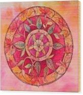 Garden Mandala Wood Print