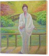 Garden Meditation Wood Print