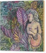 Garden Muse Wood Print