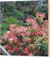 Garden Oasis Wood Print