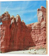 Garden Of Eden Arches National Park, Utah Usa Wood Print