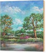 Summer In The Garden Of Eden Wood Print