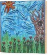 Garden Of Eden Nature Overwhelming Itself Wood Print