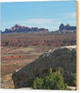 Garden Of Eden Rock Formations, Arches National Park, Moab Utah Wood Print