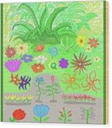 Garden Of Memories Wood Print