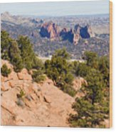 Garden Of The Gods And Springs West Side Wood Print