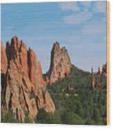 Garden Of The Gods Colorado De  Wood Print