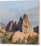 Garden Of The Gods Colorado Springs Wood Print