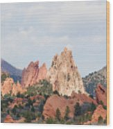 Garden Of The Gods From A Distance Wood Print