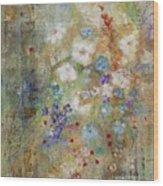 Garden Of White Flowers Wood Print