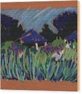 Garden Party Wood Print