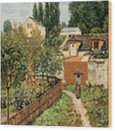 Garden Path In Louveciennes Wood Print