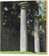 Garden Pillars Wood Print