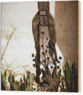 Garden Saint Wood Print