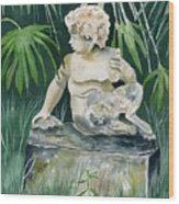 Garden Satyr Wood Print