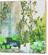 Garden Scene Wood Print