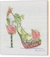 Garden Shoe Wood Print