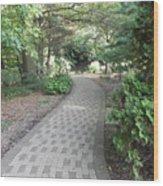 Garden Sidewalk Wood Print