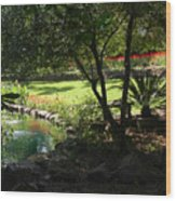 Garden Silouhette Wood Print