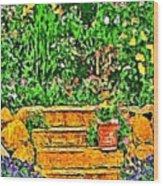 Garden Sketches 1 Wood Print