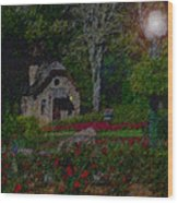 Garden Sleeping Wood Print