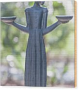 Garden Statue Dreams Wood Print