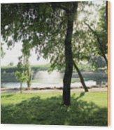 Garden Susnset Wood Print