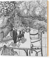 Garden Table Wood Print