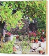 Garden Terrace Wood Print
