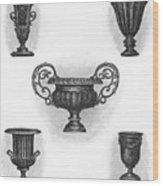 Garden Urns Wood Print