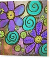 Garden View 2 Wood Print