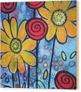 Garden View 3 Wood Print