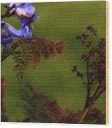 Garden View Wood Print