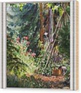 Garden View Window Wood Print