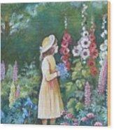 Garden Walk - C Wood Print