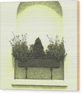 Garden Wall Box Wood Print