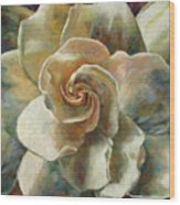 Gardenia Wood Print by Billie Colson