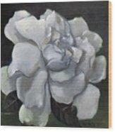 Gardenia Two Wood Print