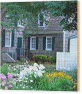 Gardens At The Burton-ingram House - Lewes Delaware Wood Print