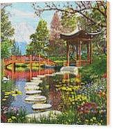 Gardens Of Fuji Wood Print