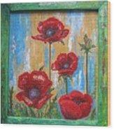 Gardens Poppy Wood Print
